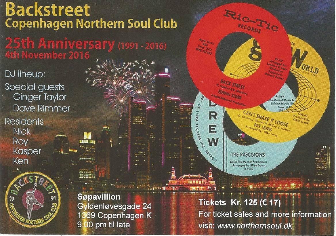Backstreet Northern Soul flyer